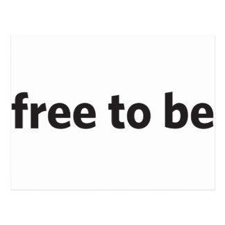 free to be postcard