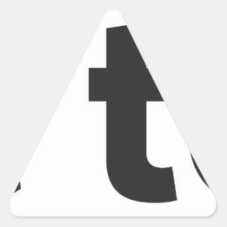 free to be triangle sticker