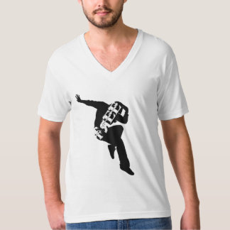 Free to Dance Men's American Apparel Fine Jersey V T-Shirt