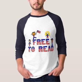 Free to Read w Kids,Mens 3/4 Sleeve Raglan, 3 col. T-Shirt