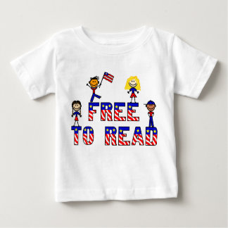 Free to Read w Stick Kids Infant T, 5 colors Baby T-Shirt