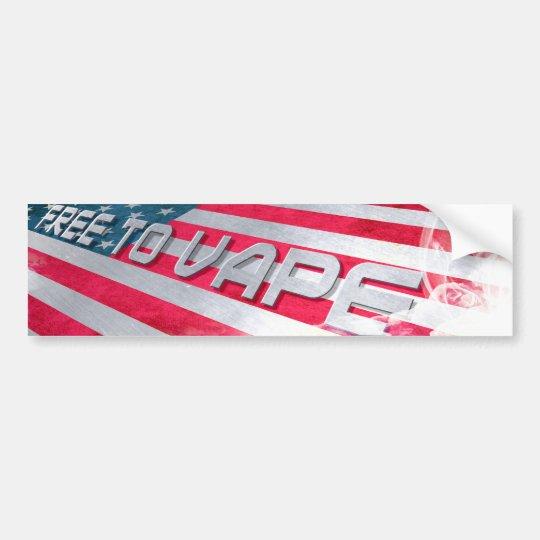 Free to Vape Bumper Sticker