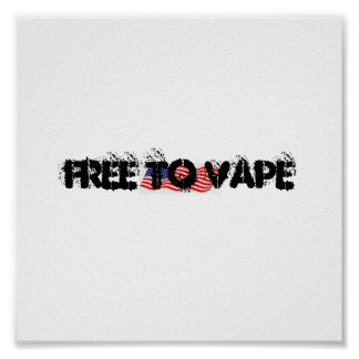 FREE TO VAPE DESIGN POSTER