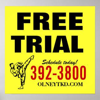 Free Trial karate poster