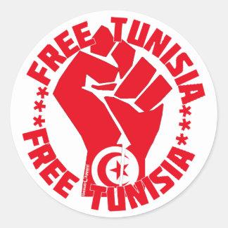 Free Tunisia Classic Round Sticker