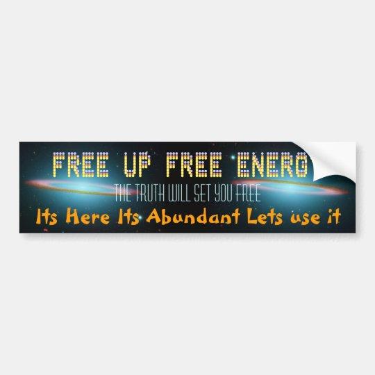 FREE UP bumper sticker