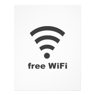 FREE WIFI Vector COMPUTER INTERNET ADVERTISING 21.5 Cm X 28 Cm Flyer