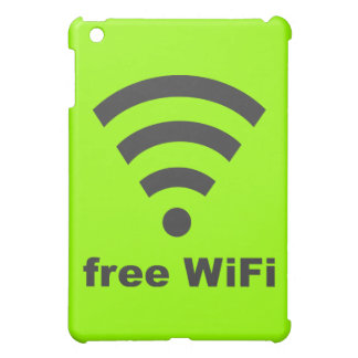 FREE WIFI Vector COMPUTER INTERNET ADVERTISING iPad Mini Case