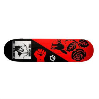 free women free themselves 21.3 cm mini skateboard deck