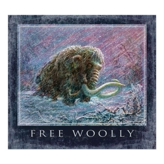 Free Woolly Mammoth Poster