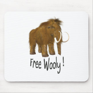 """Free Wooly"" Wooly Mammoth Mouse Pad"
