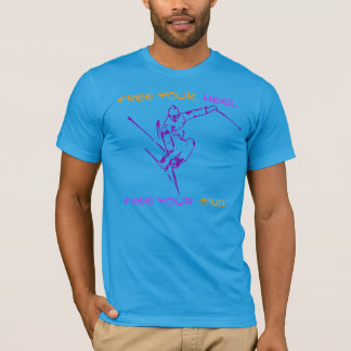 Free your mind and go skiing T-shirt