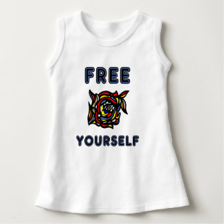 """Free Yourself"" Baby Sleeveless Dress"