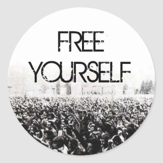 Free Yourself Classic Round Sticker