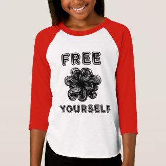 """Free Yourself"" Girls' 3/4 Raglan T-Shirt"
