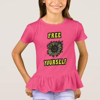 """""""Free Yourself"""" Girls' Ruffle T-Shirt"""