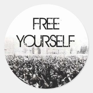 Free Yourself Round Sticker