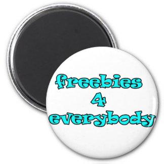 freebies 6 cm round magnet