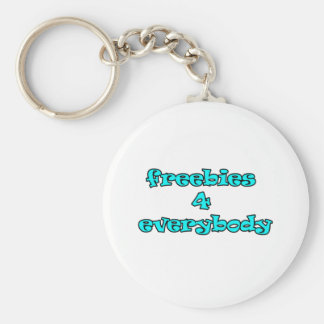 freebies basic round button key ring