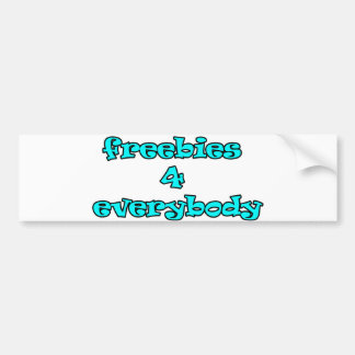 freebies bumper stickers