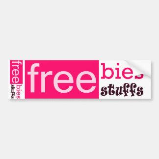 Freebies Bumper Sticker