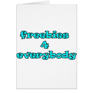 freebies greeting card