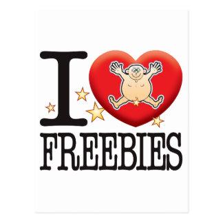 Freebies Love Man Postcard