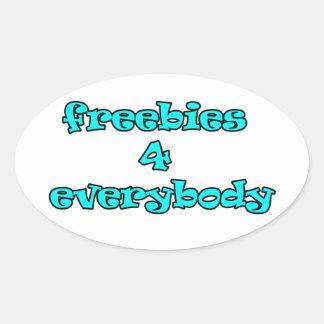 freebies oval sticker