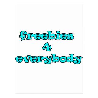 freebies postcard