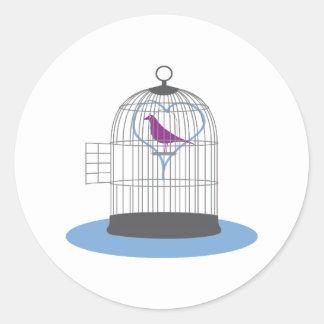 Freed Love Bird Round Stickers