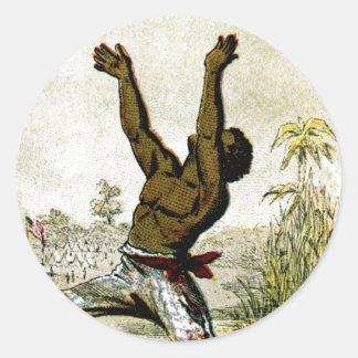 Freed Slave Classic Round Sticker