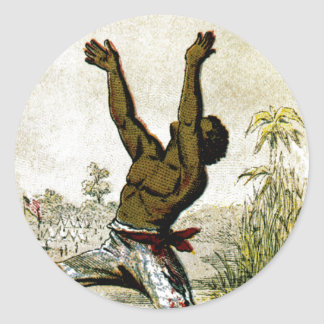 Freed Slave Round Sticker