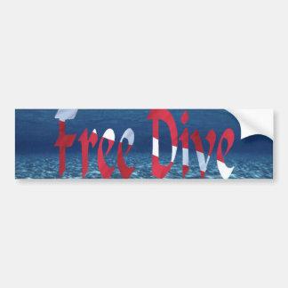 FreeDive Bumper Sticker Car Bumper Sticker