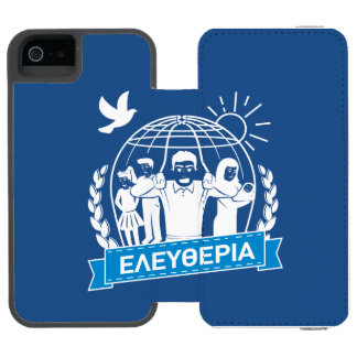 FREEDOM (ΕΛΕΥΘΕΡΙΑ) - GREEK LANGUAGE - GREECE INCIPIO WATSON™ iPhone 5 WALLET CASE