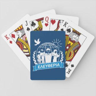 FREEDOM (ΕΛΕΥΘΕΡΙΑ) - GREEK LANGUAGE - GREECE PLAYING CARDS
