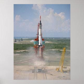 Freedom 7 Mercury Redstone 3 Launch Print