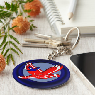 Freedom and Peace Key Ring