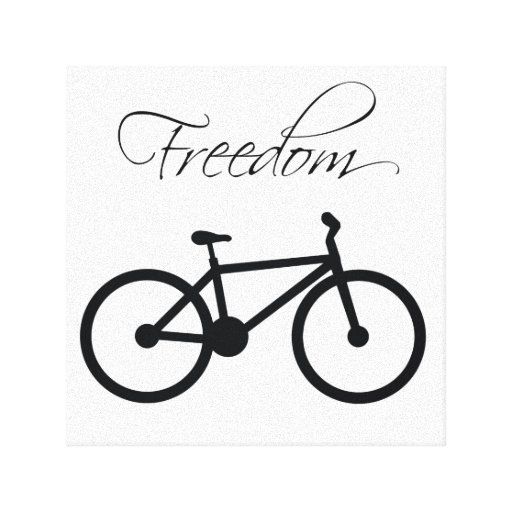 Freedom Bicycle Canvas Prints