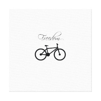 Freedom Bicycle Gallery Wrapped Canvas