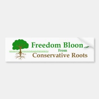 Freedom Blooms Bumper Stickers