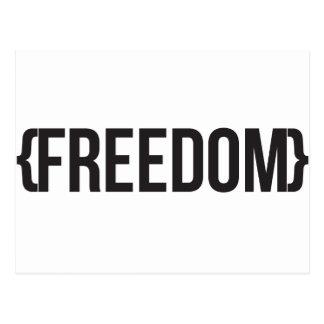 Freedom  - Bracketed - Black and White Postcard
