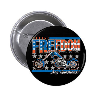 Freedom Cycle American Flag Paint Motorcycle 6 Cm Round Badge