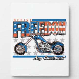 Freedom Cycle American Flag Paint Motorcycle Plaques