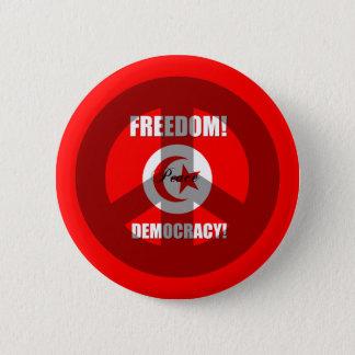 freedom democracy Tunisia 6 Cm Round Badge
