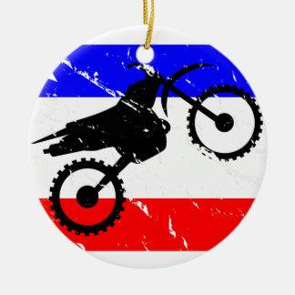 Freedom Dirt-Bike FLAIR Christmas Ornament