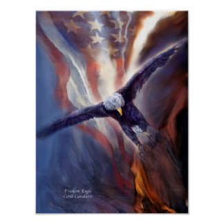 Freedom Eagle Art Poster/Print