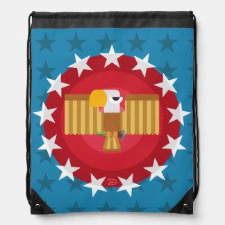 Freedom Eagle (Blue) - Drawstring Backpack
