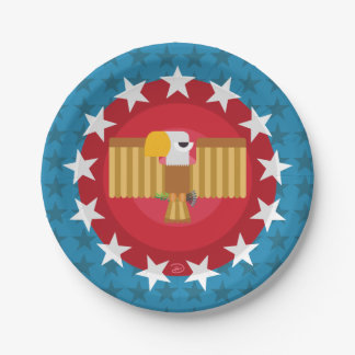 Freedom Eagle (Blue) - Paper Plate 7 Inch Paper Plate