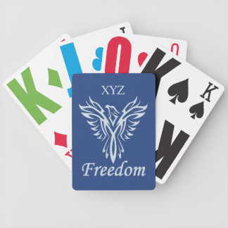 FREEDOM EAGLE custom monogram playing cards