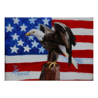 Freedom Eagle Poster Print
